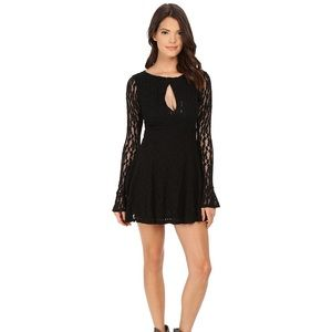Free People NWT Teen Witch Black Lace Dress Size S